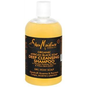 Shea Moisture Black Soap shampoo