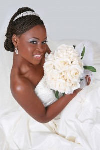 bride weddings natural hair