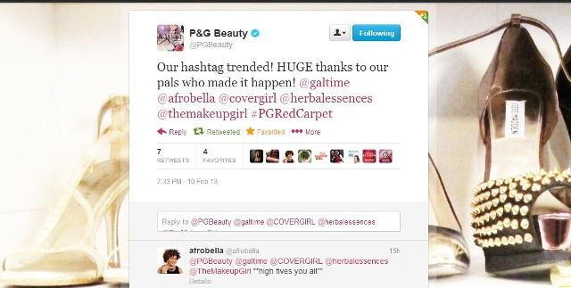 PGBeauty Afrobella Twitter trending