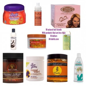 10 Natural Hair Drugstore or Beauty Supply Brands With Products That Cost $10 (Or Less)!