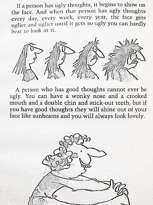 Roald Dahl lovely quote