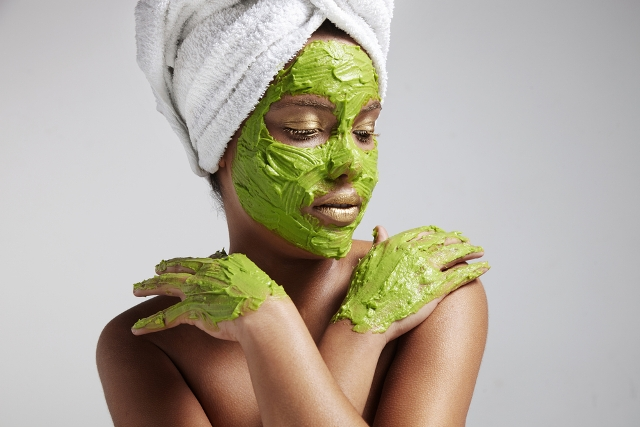Avocado facial photo via Shutterstock
