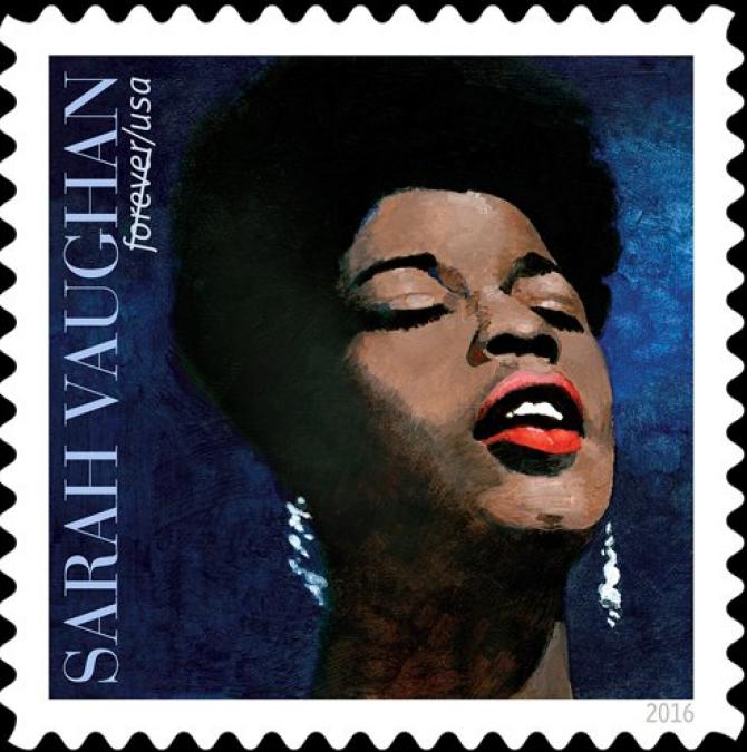 Sarah Vaughan postage stamp