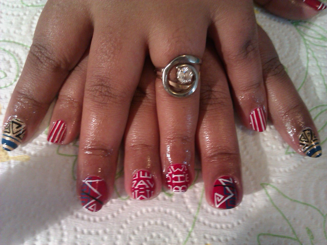 Red White And Blue Nail Designs | Nail Designs, Hair Styles, Tattoos ...
