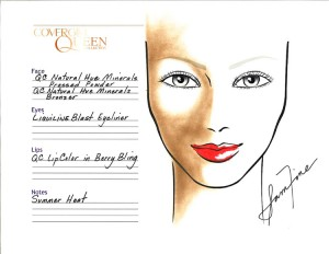 summer heat makeup face chart sam fine cover girl queen collection