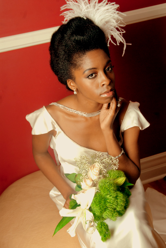 Inspiration for Natural Hair Brides | Afrobella