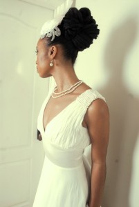 bride with locs