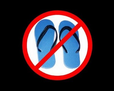 no flip flops at summer music festivals