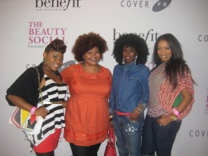 Dre Brown, me, Folake, and Nyssa!