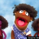natural hair muppet sesame street