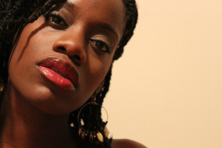 black woman red lipstick beautiful