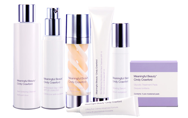 Meaningful Beauty products are available in three anti-aging systems. Customize your skin care with a free gift of your choice. Order Meaningful Beauty today! Experience Cindy's Breakthrough Secret for Younger-Looking Skin. Diminish visible signs of aging with Meaningful Beauty® by Cindy Crawford.