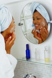 black woman skincare