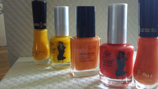 orange polishes