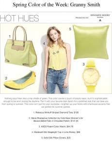 Spring Color of The Week — Granny Smith
