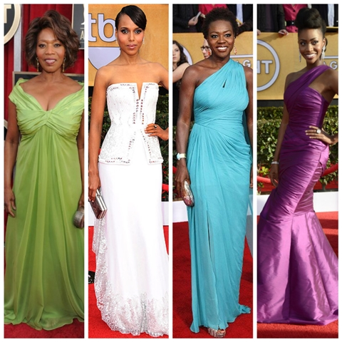 SAG Awards 2013 fashion hair makeup afrobella