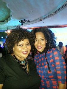 Tracee Ellis Ross is super nice. We chatted about blogging. Such a nice lady :)