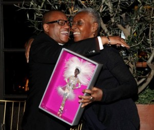 Greg Cunningham and Bethann Hardison share a moment
