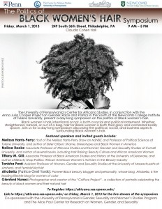 Philly, University of Pennsylvania, and The Politics of Black Hair Symposium