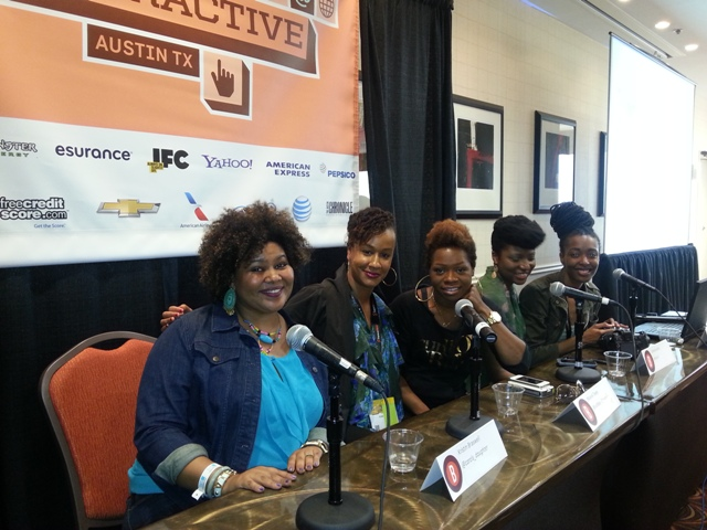 Our Naturally Social panel ROCKED! From left to right me, Kristin Braswell of Carol's Daughter, Myleik of Curlbox, Jamala Johns of LeCoil, and Chescaleigh our moderator who made this happen!