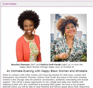 Join Me As I Co-Host The Happy Black Woman Chicago Happy Hour!