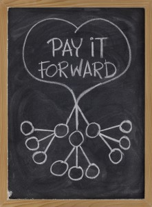 Pay It Forward illustration via Shutterstock