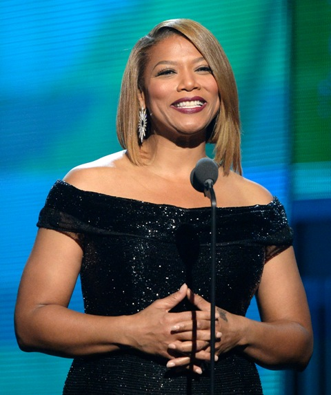 Queen Latifah GRAMMYs COVERGIRL Sam Fine Makeup