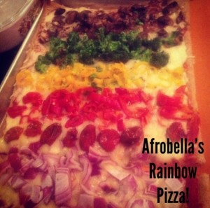 My Rainbow Pizza Recipe – A Bright Idea for Meatless Monday