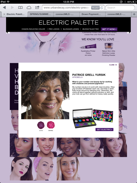 Afrobella Urban Decay Electric Palette 1