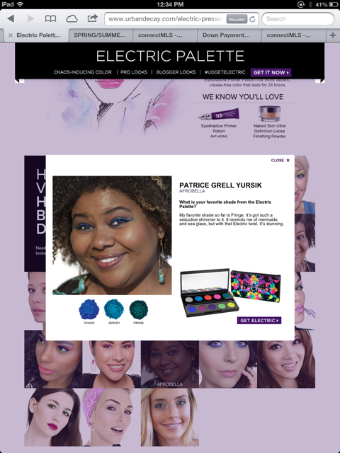 Afrobella Urban Decay Electric Palette