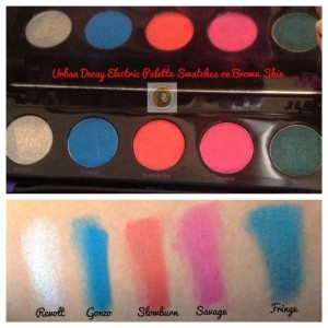 Urban Decay Electric Palette Swatches Brown Skin 2