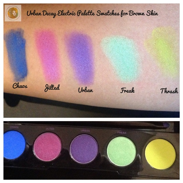 Urban Decay Electric Palette Swatches Brown Skin