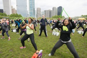 Photo courtesy of SELF Magazine's Workout In The Park