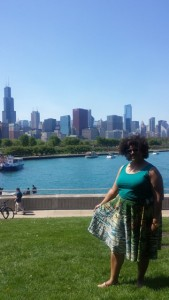 This is right along the bike path in Museum Campus, between the Shedd Aquarium and Adler Planetarium!