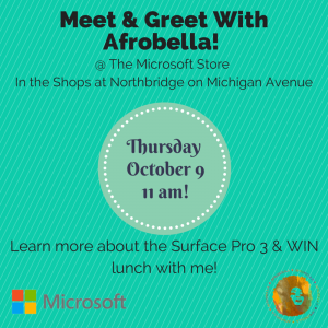 Chicago! Come To My Microsoft Store Meet and Greet This Thursday Afternoon!