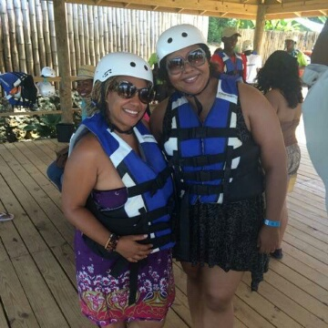 Me and Felicia Leatherwood are ready for the river!