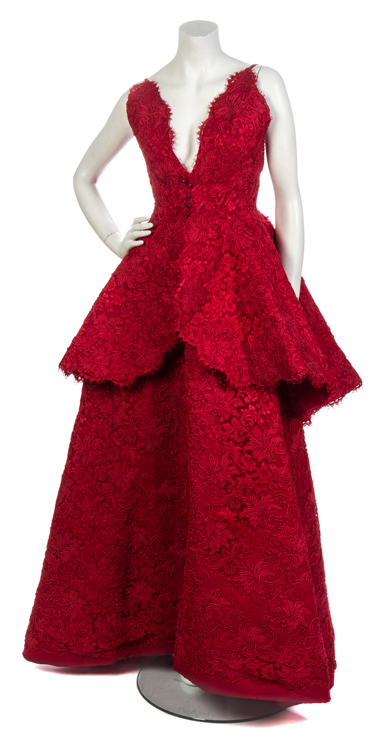 Ebony-at-LHA_A-Nina-Ricci-Couture-Red-Corded-Lace-Evening-Ensemble_RGB