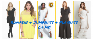 Rompers, Jumpsuits, Playsuits – Timeless Plus Size Picks