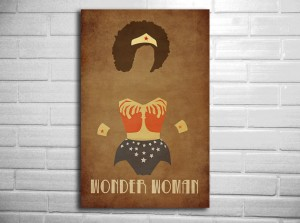 My Afro Wonder Woman Poster Makes My Office Extra Awesome