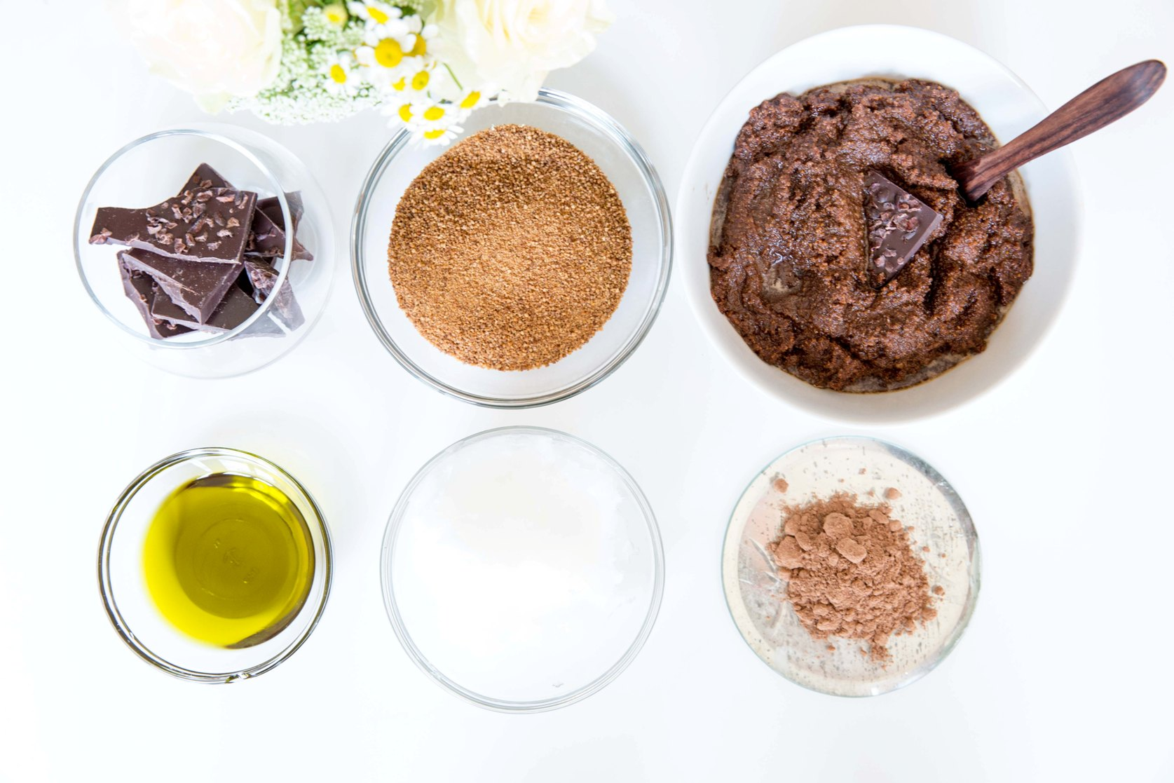 DIY chocolate sugar scrub 2