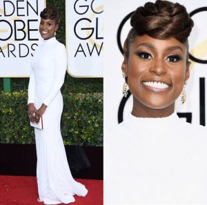 Issa Rae's Hair at the Golden Globes – Felicia Leatherwood Reveals the Look!